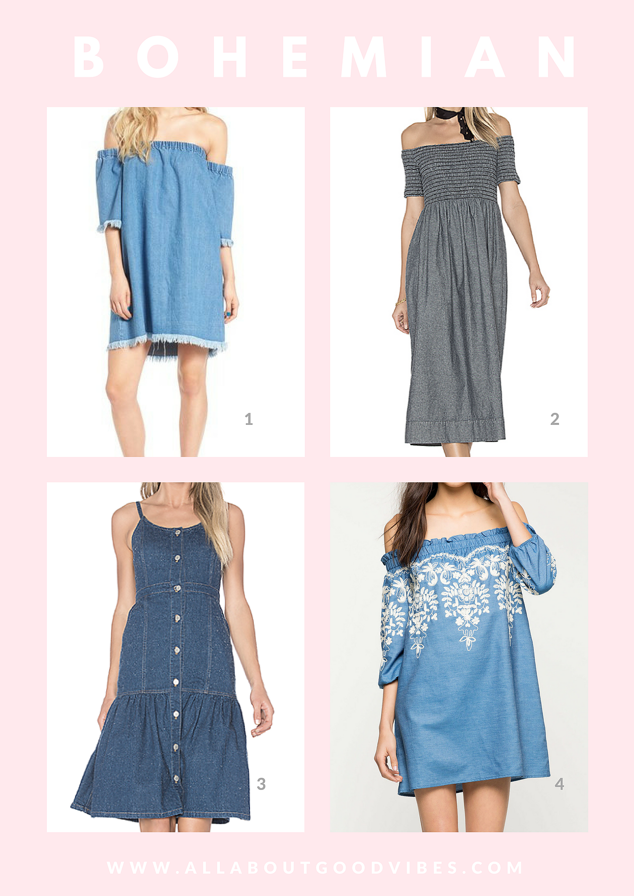 Denim Dress For Your Fashion Personality Type All About Good Vibes