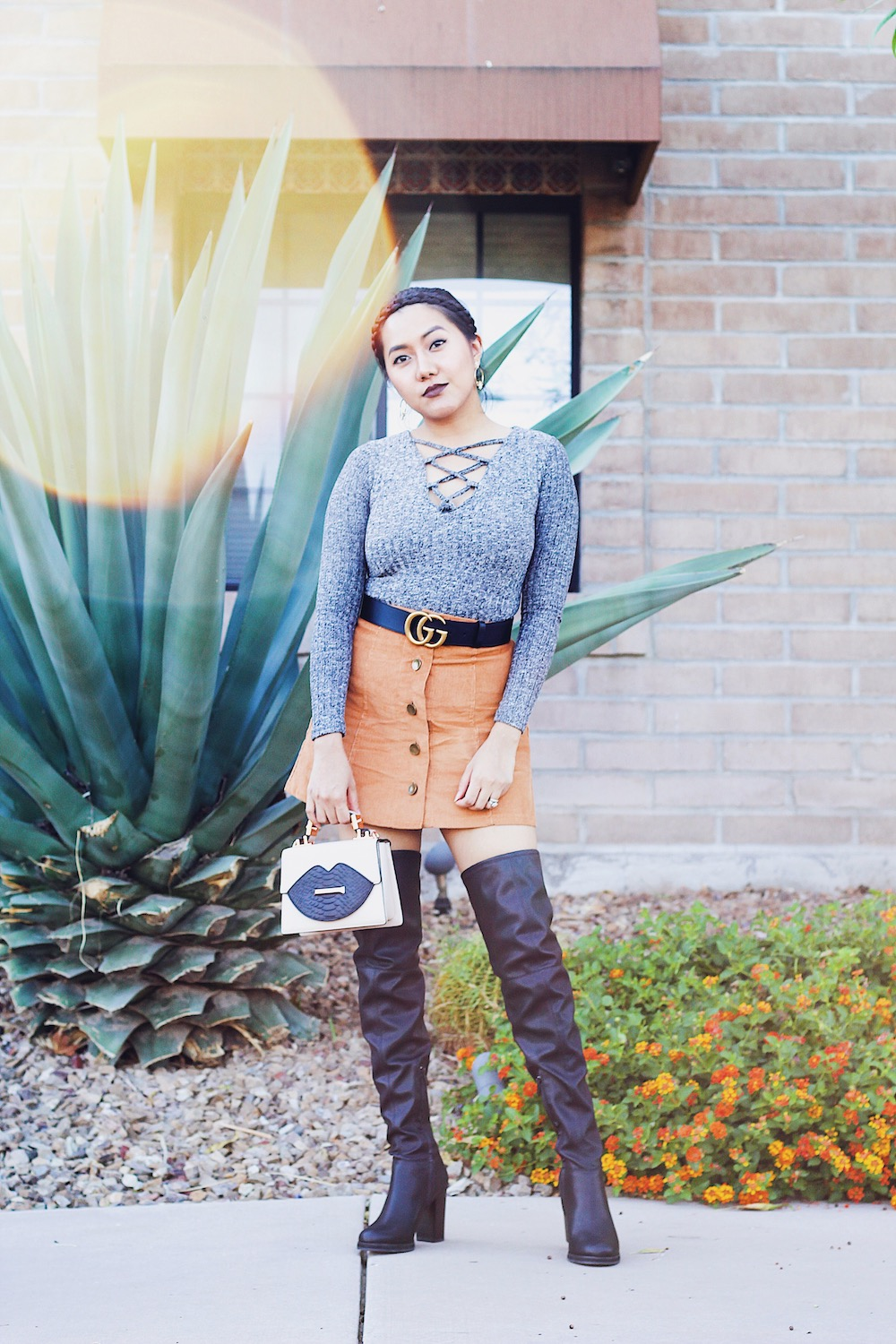 Fall Outfit Over-The-Knee Boots