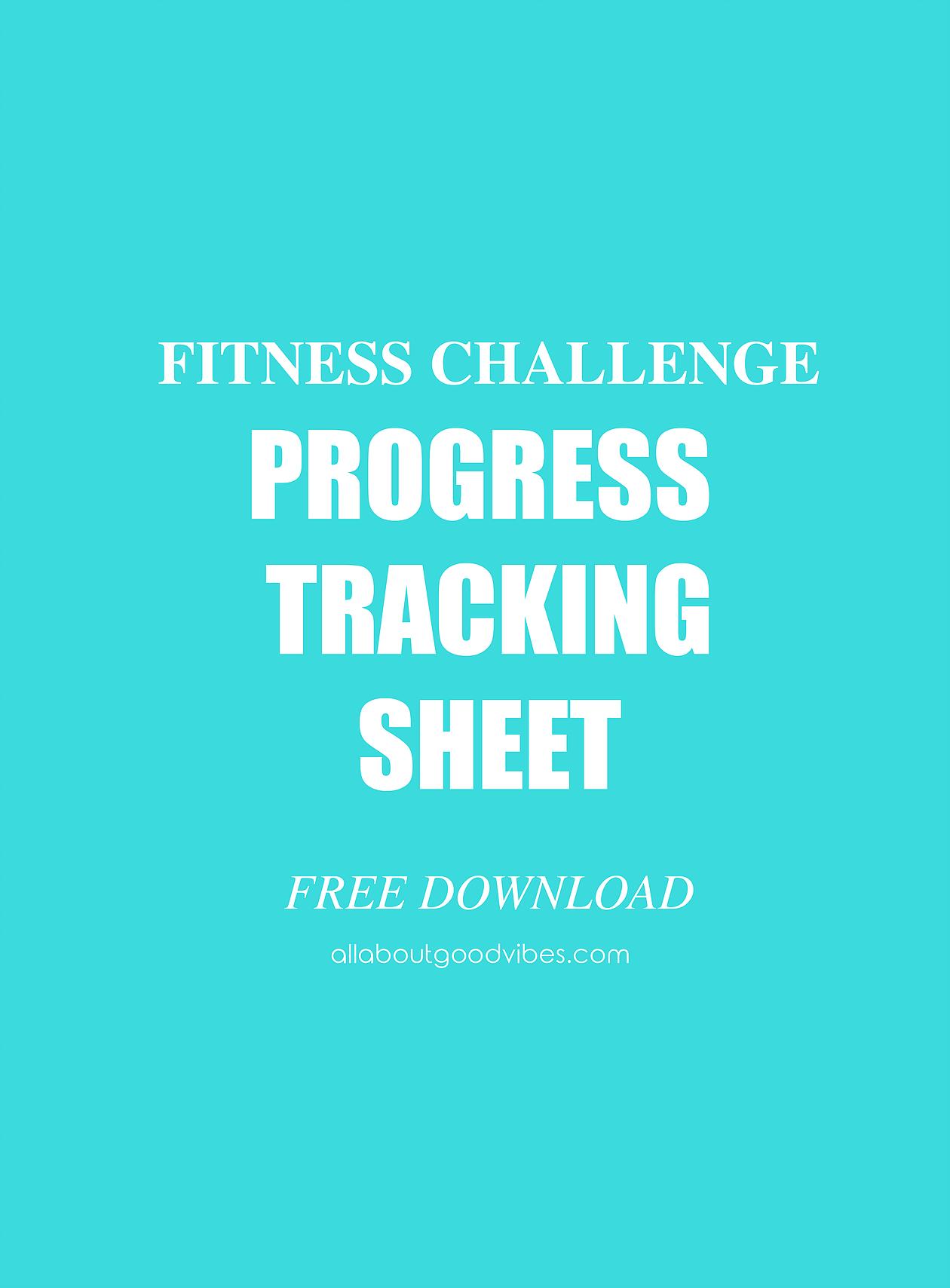 Fitness Progress Tracking Sheet-Free download