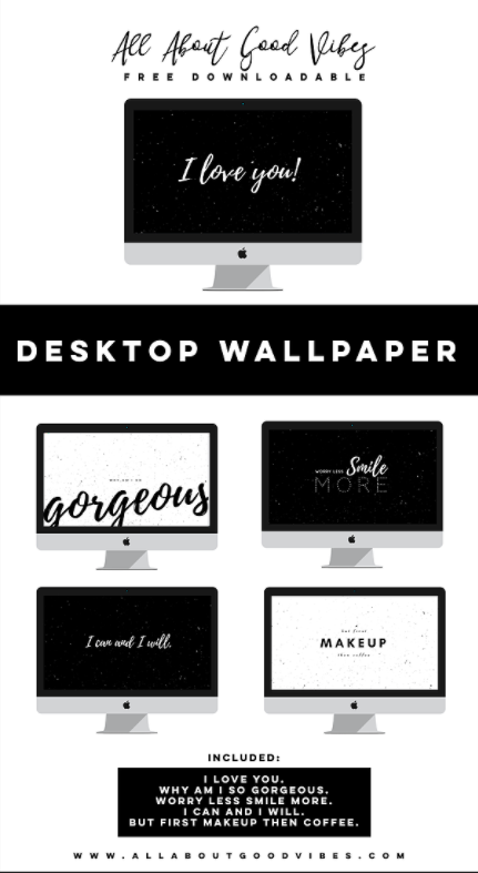 Free Downloadable Black and White Desktop Wallpaper