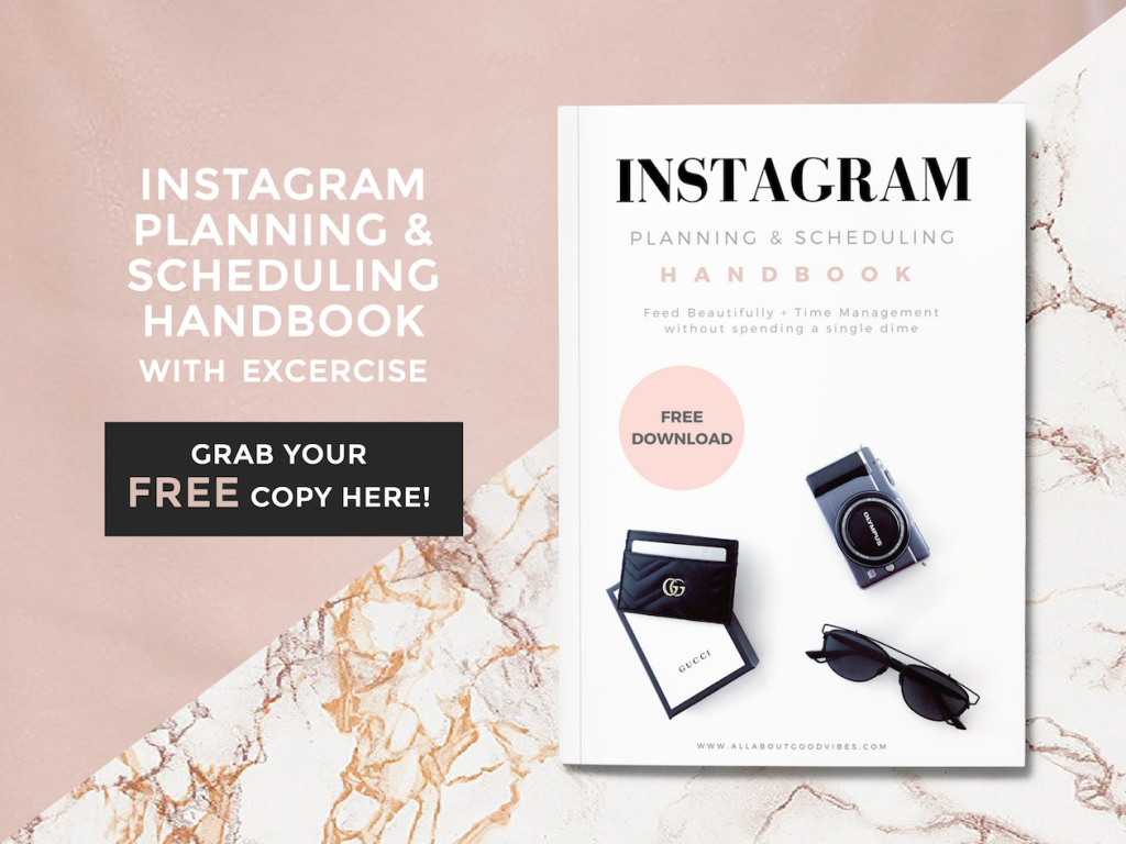 Free Instagram Planning and scheduling handbook cover