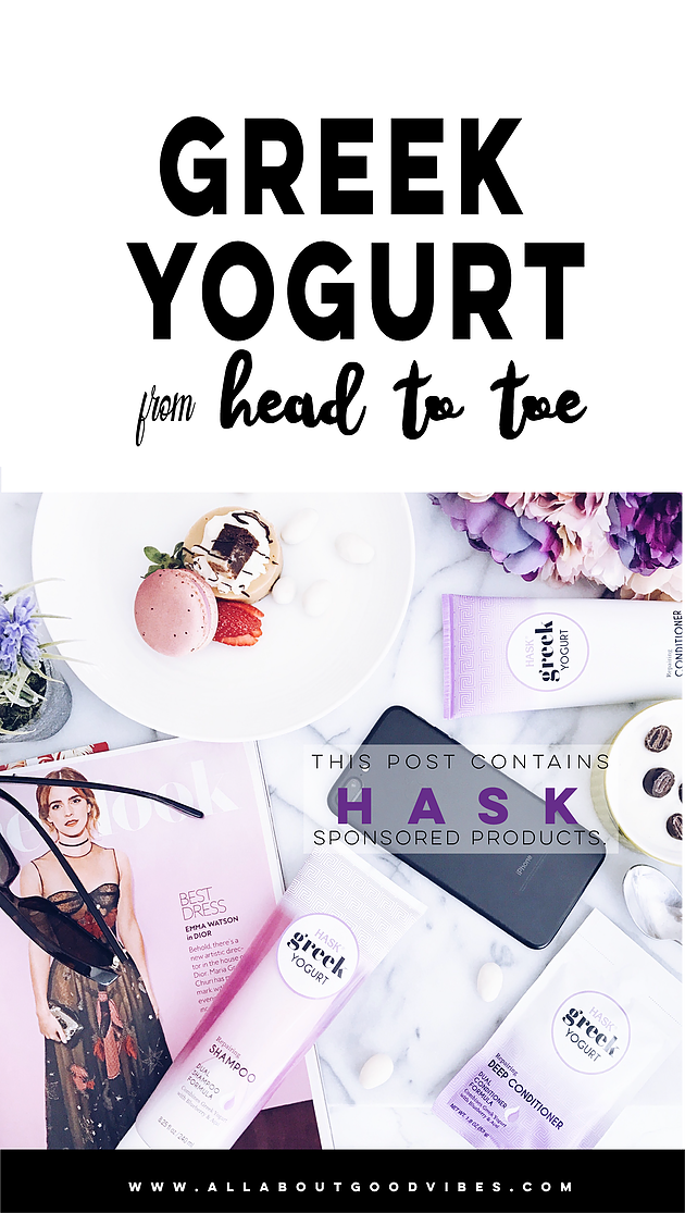 Greek Yogurt from Head to Toe   Haskhair Mini Review #HaskgoesGreek #ad