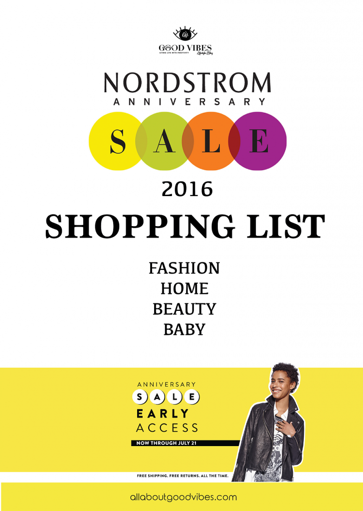 My Shopping List at Nordstrom Anniversary Sale 2016 | Fashion Edition