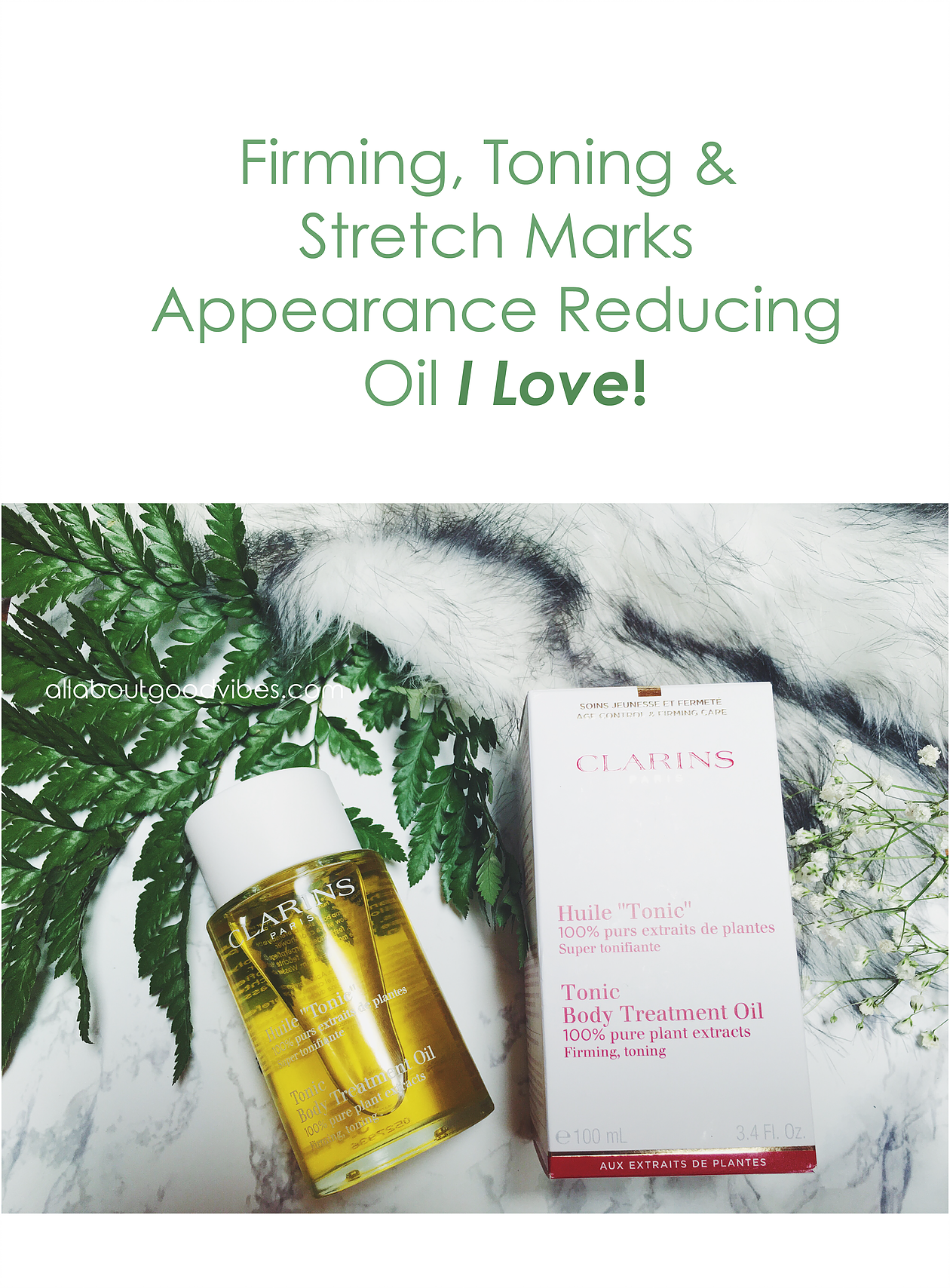 Firming, Toning and Stretch Marks Appearance Reducing Oil I Love!