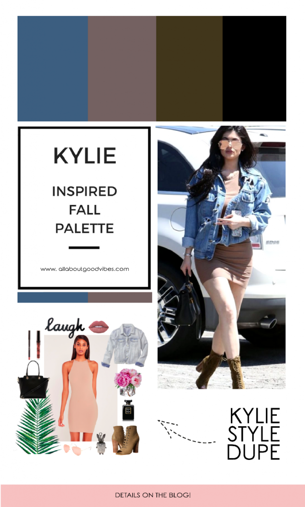 Kylie Inspired Fall Palette: Chambray x Dorado x Thatch Green x Black