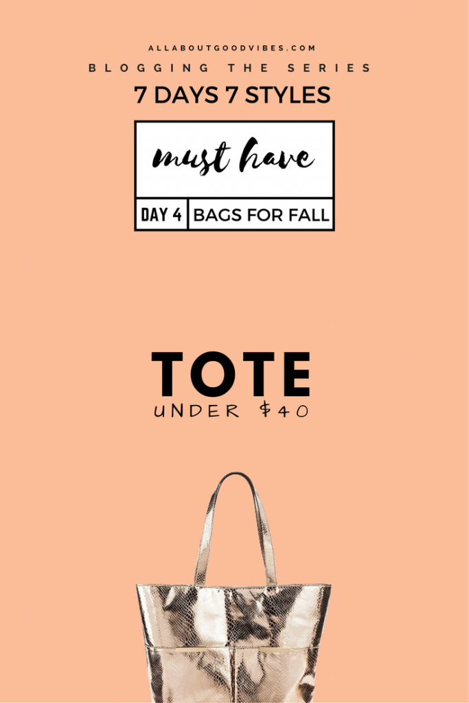 Must Have Bags for Fall | 7 Days 7 Styles | Day 4 Tote Bag under $40 @Target | All I need is my tote & butter!