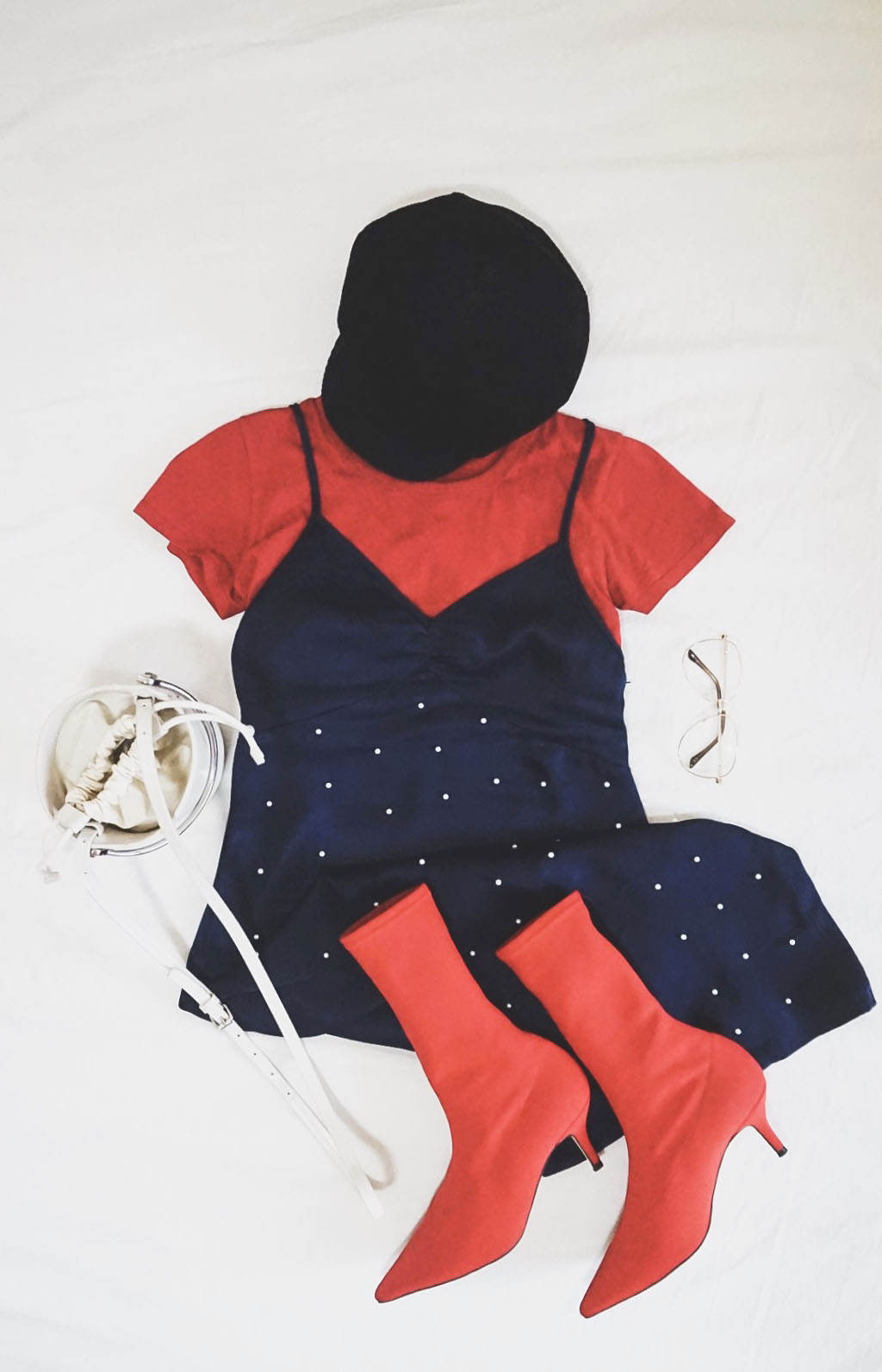 #NAKDfashion NA-KD.com discount coupon code mini haul Fall-Winter outfit flatlay dress