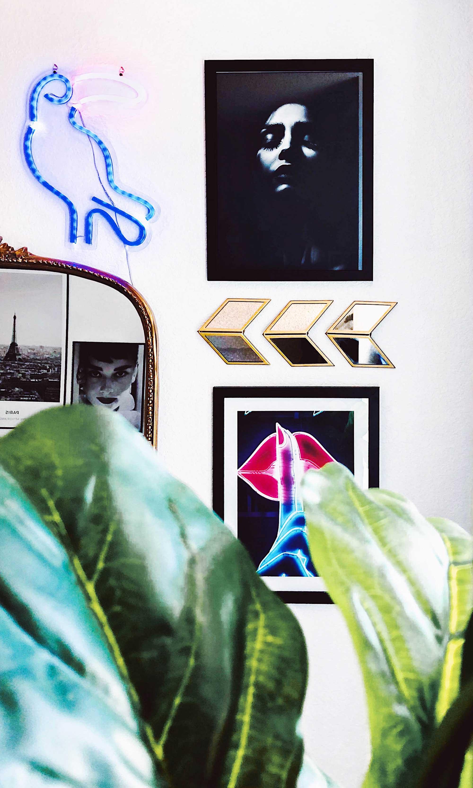 Vanity-room-decor-Modern Eclectic Vanity with Desenio | Free Phone and Desktop wallpapers download